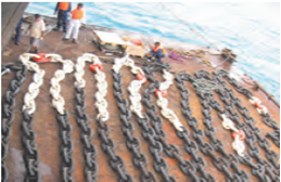 INSTALLATION OF ANCHOR & CHAINS